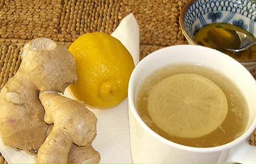Ceai de ghimbir cu lamaie si miere